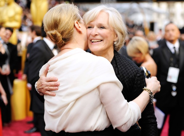 Meryl Streep with Glenn Close at the Academy Awards by Chris Pizzello, Invision/Associated Press (2014)